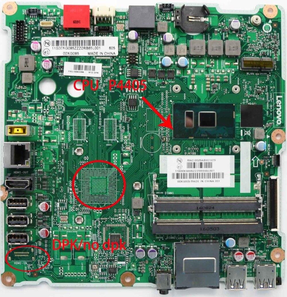 لينوفو AIO300-23ISU المتكاملة اللوحة وحدة المعالجة المركزية P4405 DPK/لا DPK FRU 00XG084 00XG085 01GJ195 01GJ196