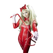 2017 Persona 5 Anne Takamaki Kaitou Cosplay Costumes PU Woman Jumpsuits Red Bodysuit Halloween Christmas Uniform Custom Made