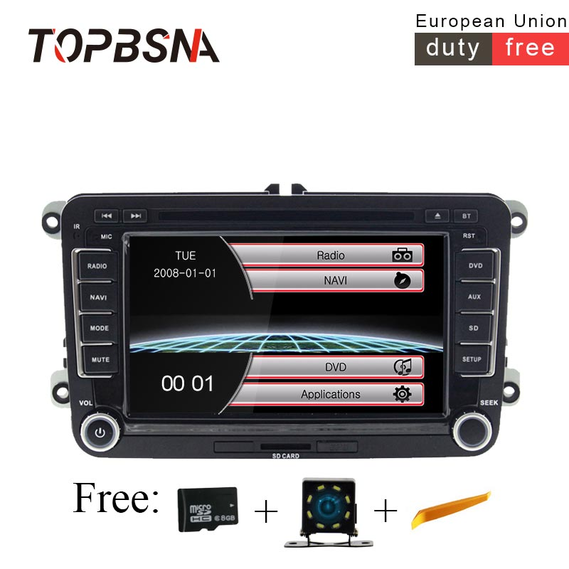 TOPBSNA 2 din Car DVD Player For VW Golf 5/6 Passat b7/cc/b6 SEAT leonTiguan Skoda Octavia GPS Navi Car radio automotive USB RDS