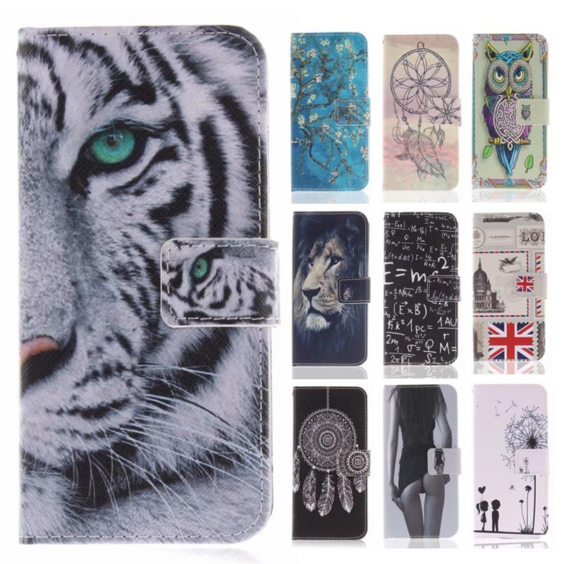Funda abatible de cuero PU para Huawei Honor 10 Fundas Cool patrón tigre león búho cartera soporte para Huawei Honor 8 9 Lite