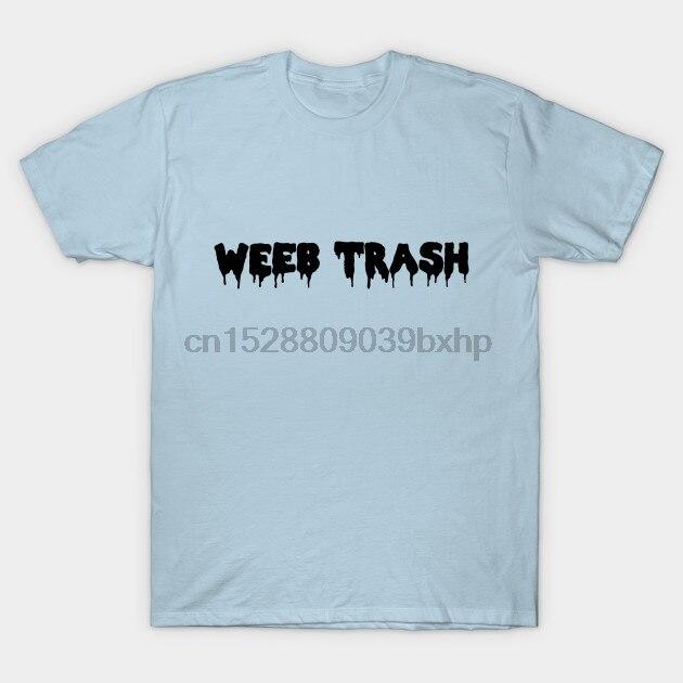 Homens de manga Curta camiseta WEEB LIXO! Anime T Shirt(1) t-shirt das Mulheres