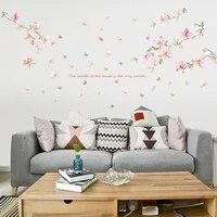 Autocollant mural amovible en forme de fleur  decoration de maison  branche darbre familial  adhesif pour chambre a coucher