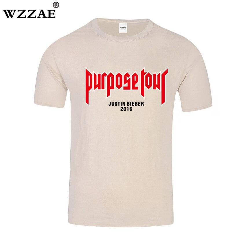 WZZAE Propósito Turnê Vfiles Justin Bieber T shirt Homens 100% algodão de Manga Curta T-shirt Da Marca Hip Hop Tshirt Homme Tamanho XS-XXXL