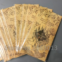 10pcs Pack Wholesale Harry HP Map The Marauders Map Hogwart Live Point Map