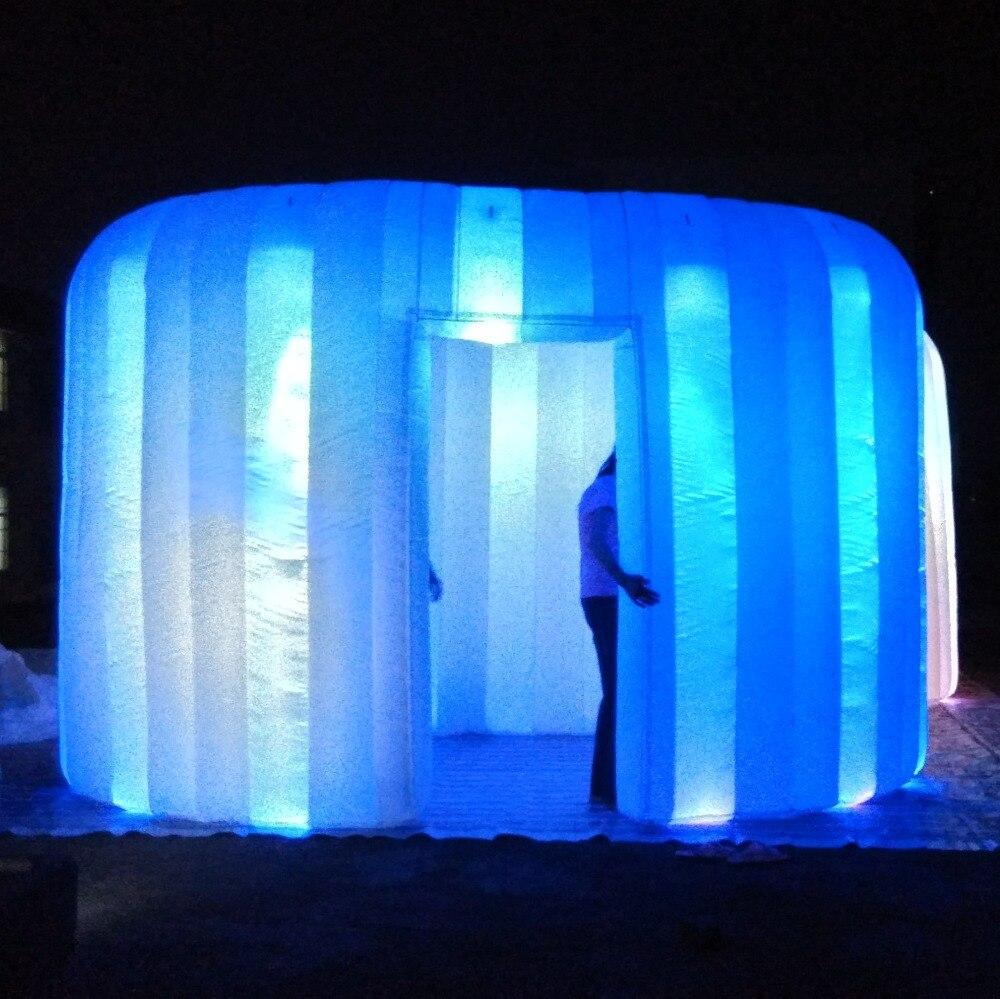 Hermosa decoración inflable de iluminación Casa Redonda inflable para Metting, boda, fiesta, evento, exposición, Feria Comercial