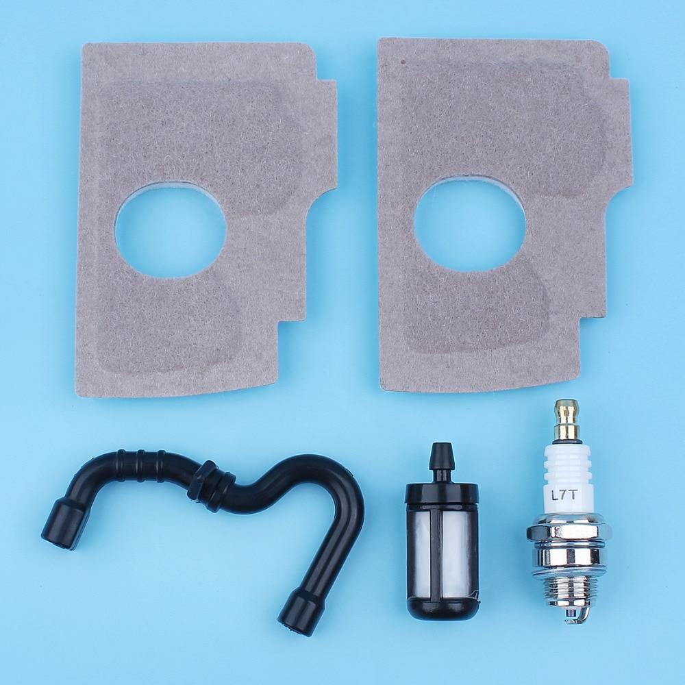 Kit de servicio de bujía de línea de filtro de combustible y aire para Stihl MS170 017 018 MS 170, pieza de repuesto de motosierra
