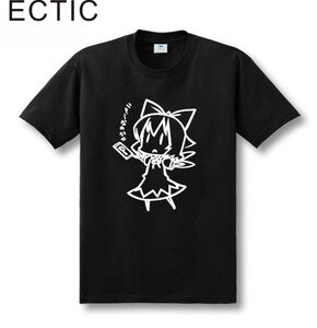 new style line drawing Touhou Project Cirno ZUNSOFT ZUN sitcoms couple clothes man men male T-shirt