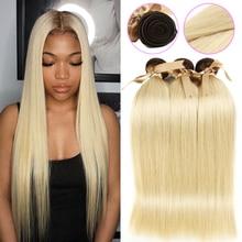 Mechones de pelo rubio miel Ombre de raíz negra perla T4/613 cabello lacio malayo 613 mechones 100g cabello humano Remy