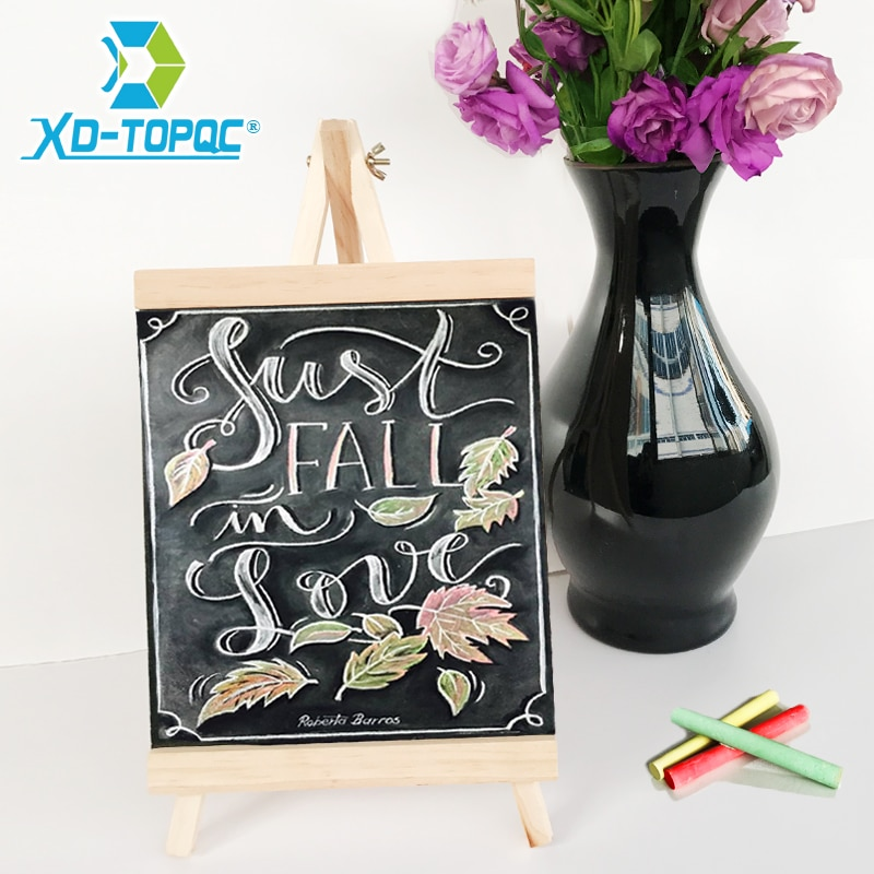 XINDI 20х36 см MDF Настольная доска, доска для рисования из соснового дерева, меловая доска, детские деревянные сообщения, доска для рисования BB72