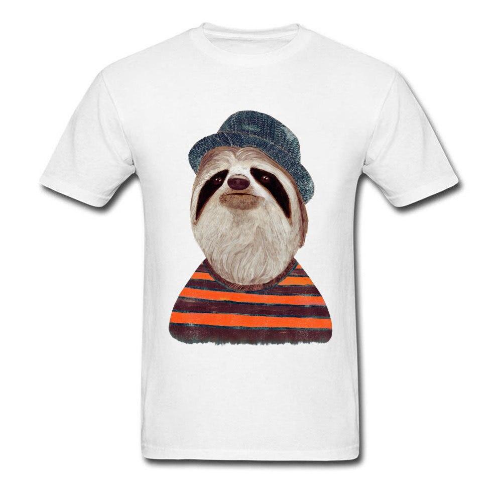 Sloth Tops Tees hombres camiseta 2019 Inglaterra Street camisetas perezoso hombre blanco camiseta Old sudaderas para Colegio Hipster ropa