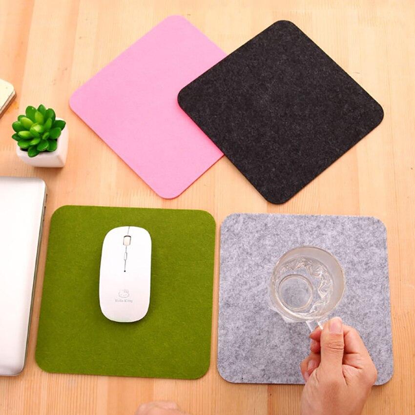 Удобный Компьютерный стол, войлочный коврик, настольный квадратный держатель для мыши, чехлы для ноутбуков, коврики для мыши для ноутбуков