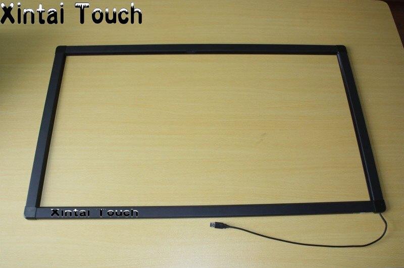 """10 puntos reales 50 pulgadas IR multi touch panel kit, 50 """"Marco de infrarrojos para pantalla táctil superposiciones"""