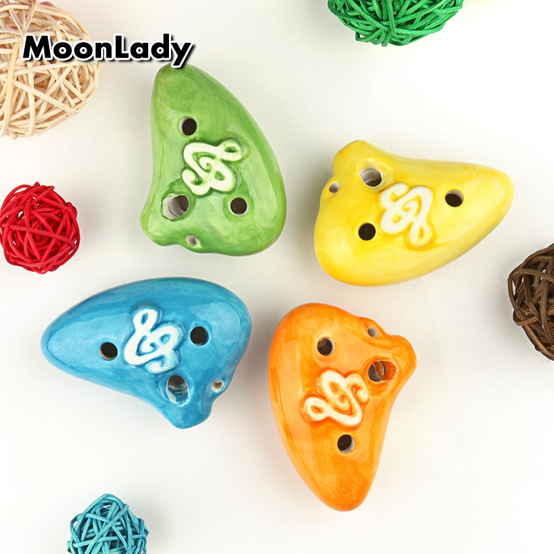 Submarine Shape AC Ocarina 6 Holes Normal Shape Ocarina Colorful Woodwind Musical Instrument Good Gift Suitable for Children