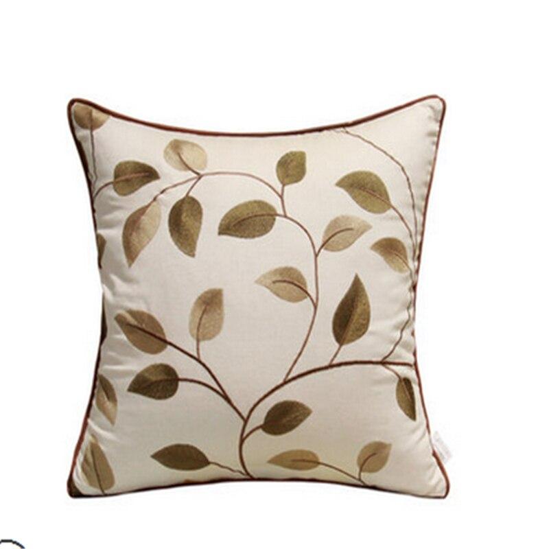 Bordado de lujo con diseño decorativo geométrico sofá almohada cojín hojas azúcar cráneo cojín cojines decorativas 6CJ4Z0