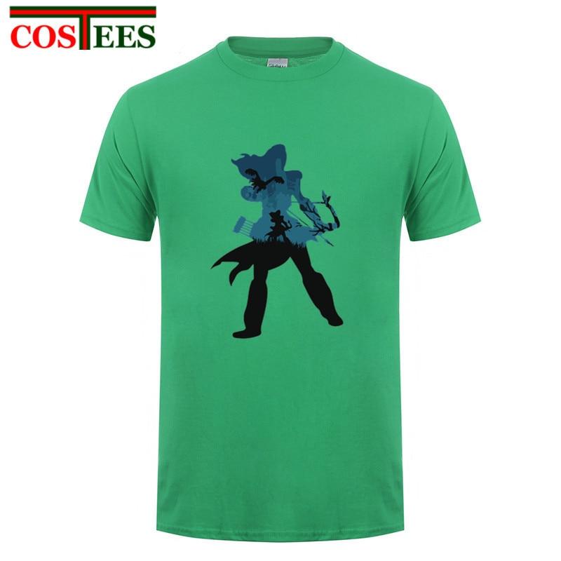 Camiseta para hombre Horizon Zero Dawn, camiseta de Aloy minimalista para hombre, camisetas ajustadas de Fitness de verano 2018, camiseta informal de algodón Premium, Hombres