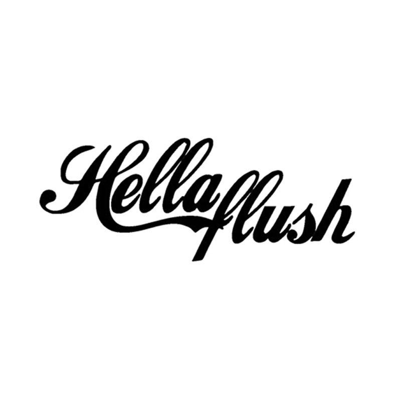 20*8CM HELLA FLUSH Fun Texto Decalques Reflexivos Adesivos de Carro Estilo Do Carro Preto/Prata C1-0084
