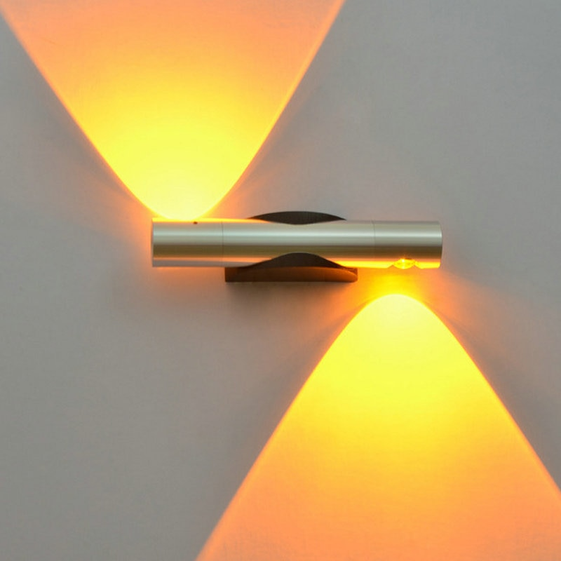 360 degree rotation LED Creative Wall Lamp 2w 6w Modern sconce wall lights for home bathroom vanity mirror light bulbs