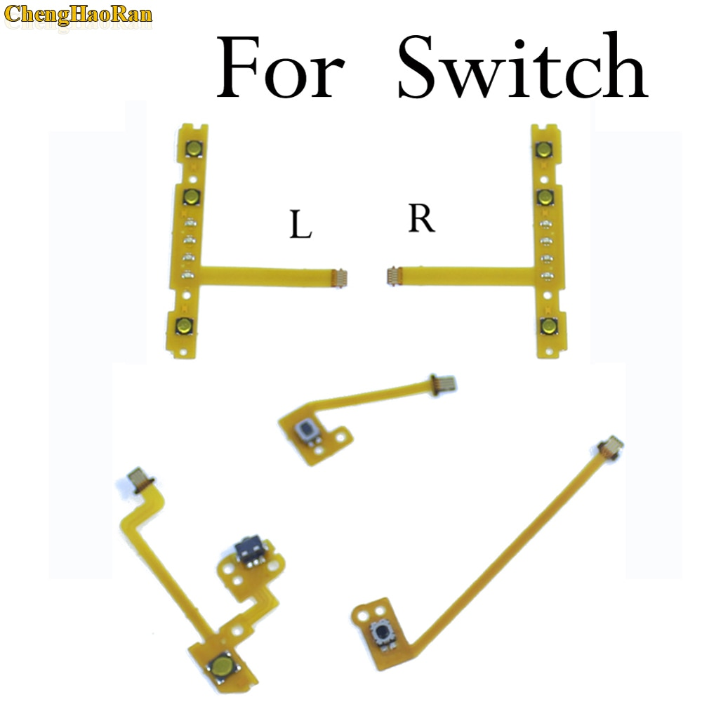 chenghaoran 50 100 pcs for iphone 4 4s new power volume switch key button replacement ChengHaoRan 1x Replacement For Nintendo Switch Joy-Con ZR ZL L SL SR Button Key Ribbon Flex Cable On Off Volume Button Connector