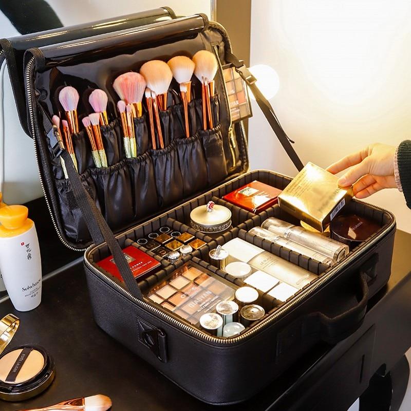 New Upgrade Large Capacity Cosmetic Bag Hot-selling Professinal Women Travel Makeup Case