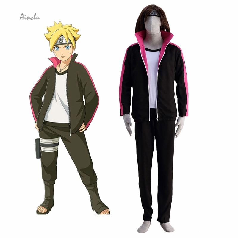 Disfraz de NARUTO-Naruto de la película NARUTO Uzumaki BORUTO, disfraz y Diadema de Anime, ropa de Cosplay hecha a medida