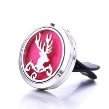 Quality Beautiful Elk Car Clip Stainless Steel Perfume Essential Oil Diffuser Car Air Outlet Freshen