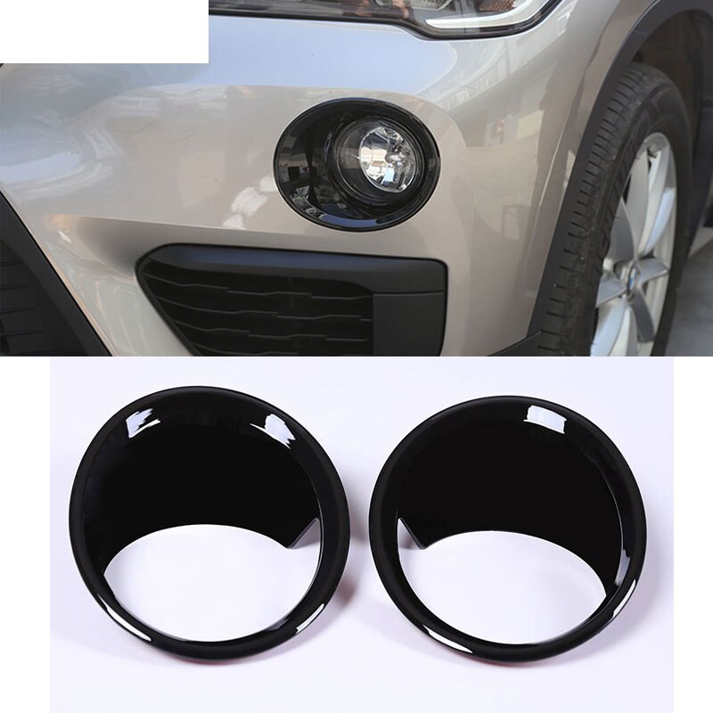 2pcs/set ABS Chrome Front Fog Light Lamp Cover Trim Car Accessories For BMW X1 F48 2016 2017 2018 2019 Accessories
