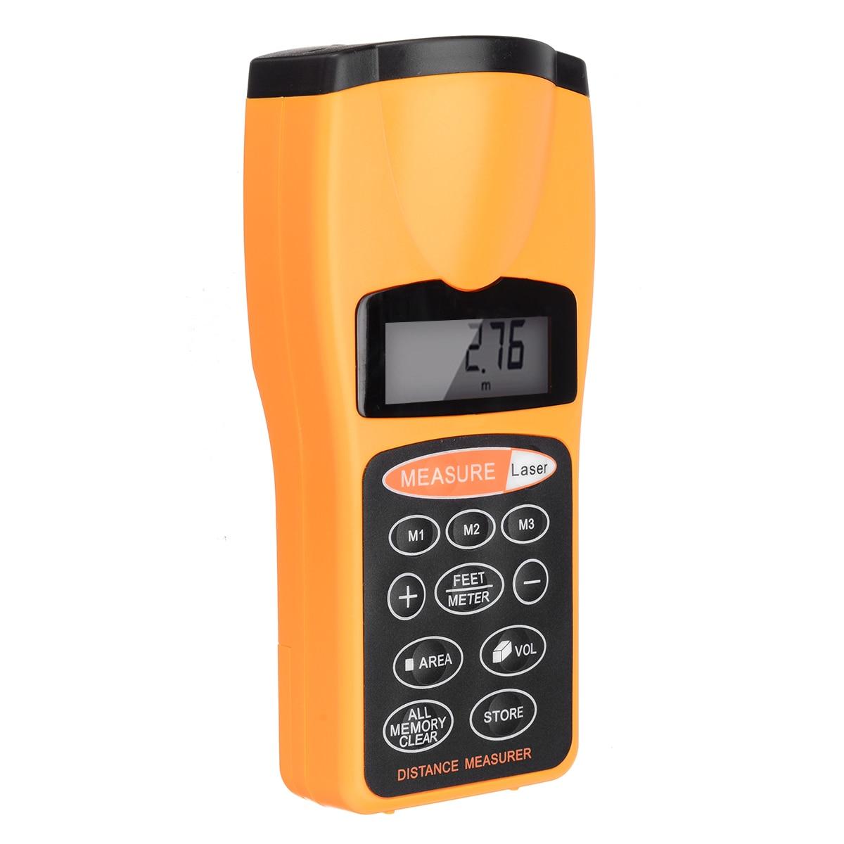 Laser handheld rangefinder medidor de distância eletrônico laser digital faixa de fita localizador fita de medição