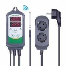 Inkbird ITC-308 WIFI prise ue régulateur de température numérique régulateur de Thermostat, double relais 1 chauffage et 1 refroidissement