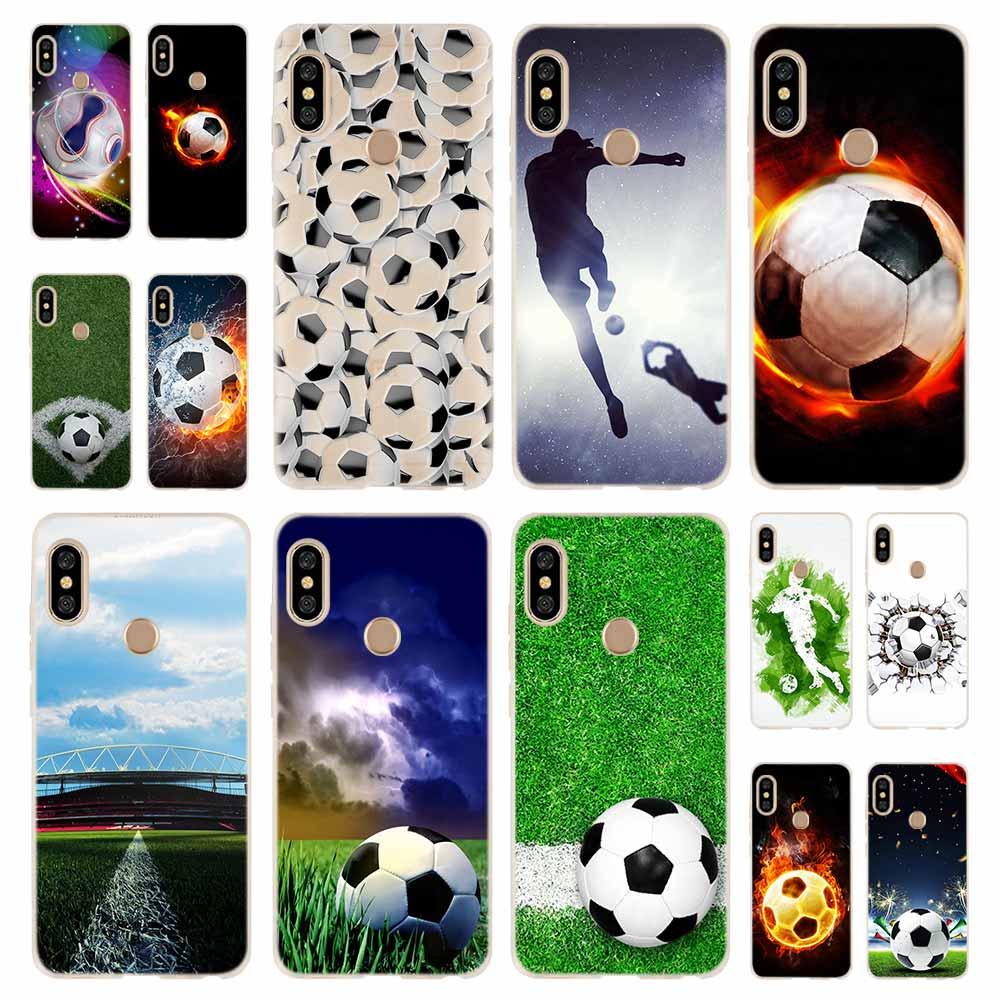 Feuer Fußball Fußball Ball Mode Weiche TPU Fall Abdeckung Für Coque Xiaomi Redmi 9a 8a 7a 6a 5a Hinweis 9 8 7 6 5 Pro 8t y3