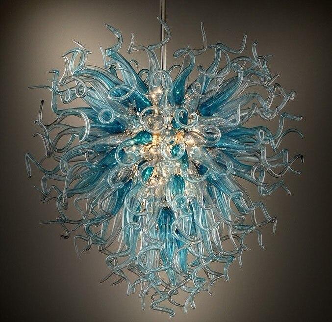 مصباح نجف زجاجي منفوخ يدويًا ، تصميم عصري ، تصميم معاصر ، إضاءة داخلية زخرفية ، مثالي للمنزل.