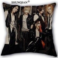 gazette uruha Pillow Cover Custom Cotton Linen Decorative Pillows Covers Case For Textiles Chair 45x45cm one side A1017