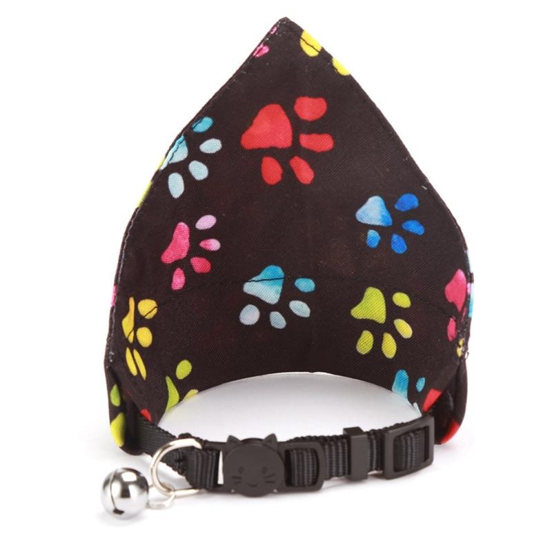 Dog Cat Bandana Bibs Paw Pattern Scarf Collar Adjustable Pet Neckerchief Cute Scarf Waterproof Saliva Towel for Small Dog
