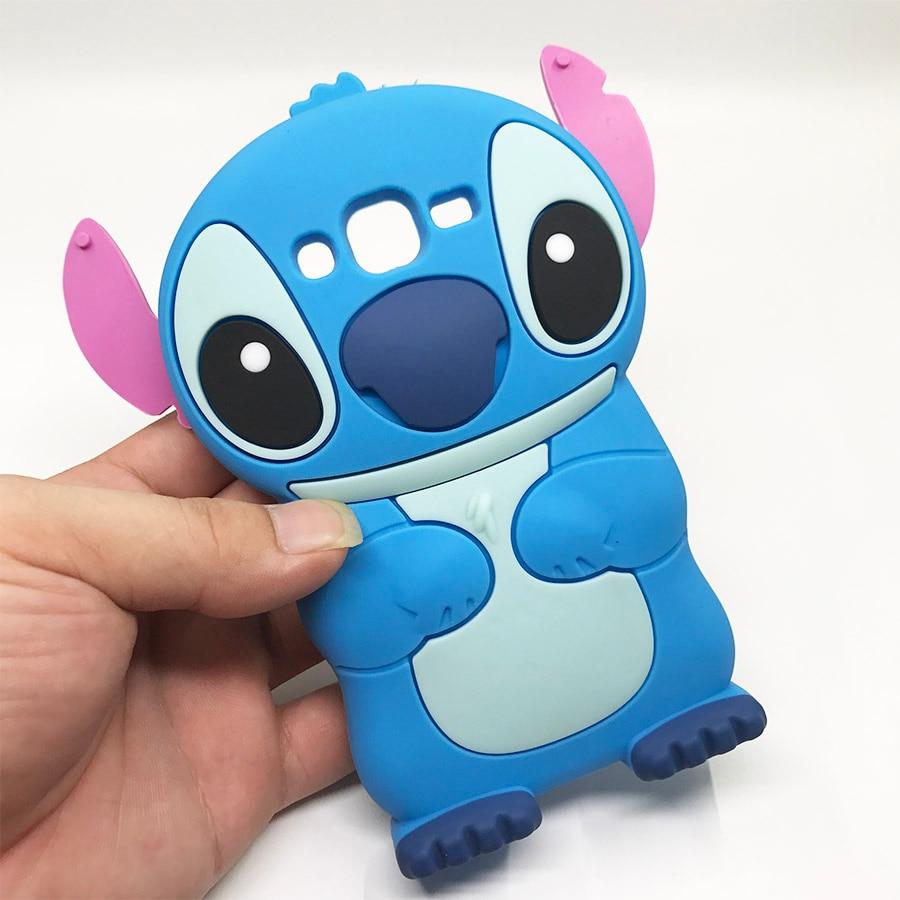 Para Samsung Galaxy J1 ACE J2 Prime J3 J5 J7 2016 A3 A5 2017 funda Stitch Linda caricatura suave silicona teléfono Capa fundas traseras