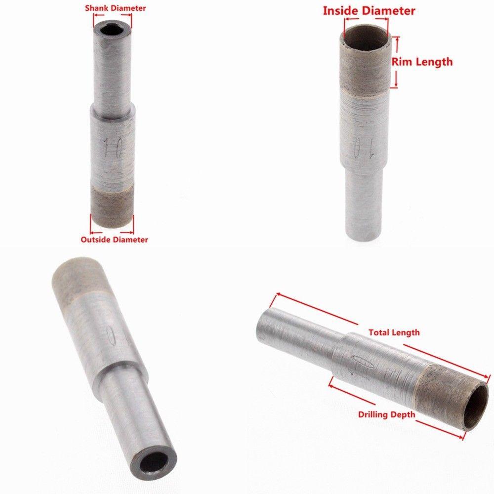 Sierra de agujero de Brocas de diamante sinterizada de 8mm, Juego de 4 a 20mm para azulejo de vidrio ILOVETOOL