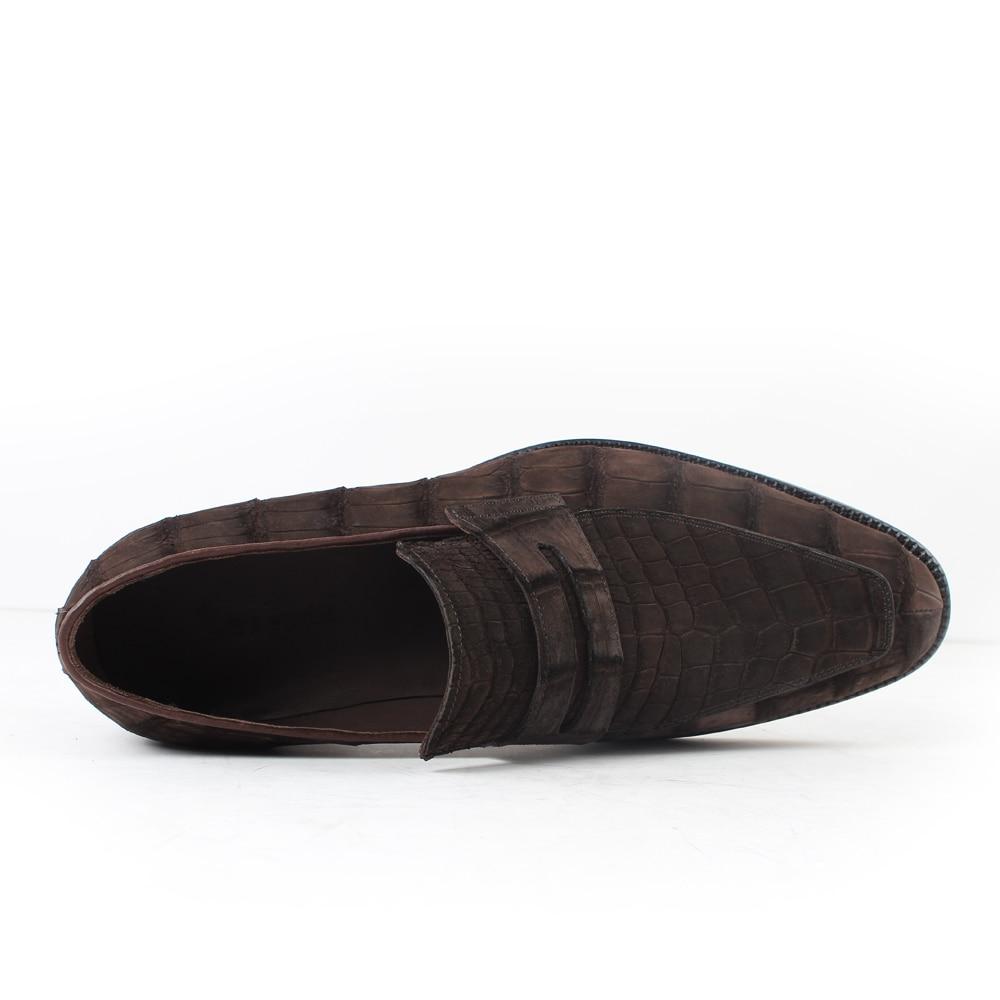 2020 Vikeduo Hot Men's Crocodile Skin Loafers Shoes Custom Genuine Leather Fashion Party wedding Dress Office Original Designer