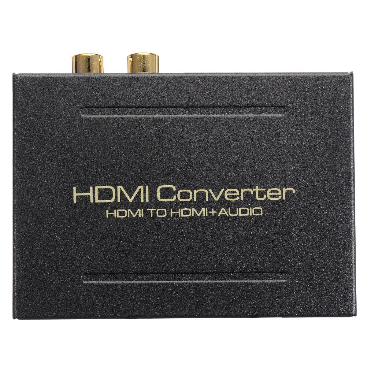 Conversor de áudio do extrator de hdmi 5.1ch divisor de áudio 1080 p estéreo analógico hdmi para hdmi spdif ótico rca l/r adaptador conversores