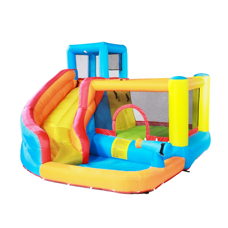 الأطفال حمام سباحة قابل للنفخ القلعة داخلي صغير الدكتوراه الدلافين الشريحة الرئيسية لعب كبيرة لعبة في الهواء الطلق شقي الترامبولين