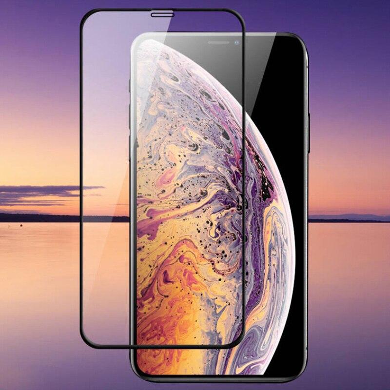 Vidrio Templado protector de pantalla completa 10-50 piezas 10D para iphone678 6plus 7plus 8plus X vidrio protector de pantalla ER Xsmax