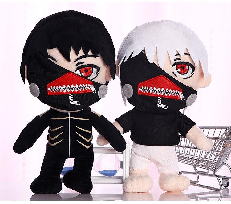 "Anime Tokyo Ghoul Kaneki Ken peluche muñeco de peluche suave negro/blanco 12 ""30cm"