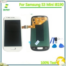 100% testé AMOLED pas de Pixel mort 4.0 'LCD écran tactile numériseur assemblée pour Samsung Galaxy S3 mini pièce de rechange