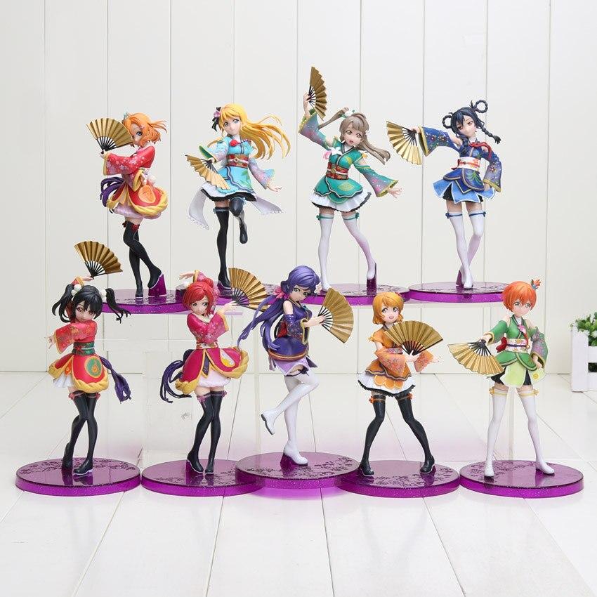 15-19cm Anime amor EN DIRECTO PVC figura de Honoka Minami Kotori Sonoda Umi Yazawa Niko con los Fans lindo niñas las niñas modelo muñeca de colección