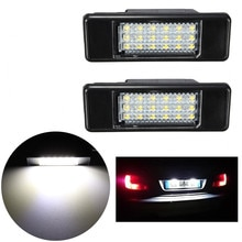 2 x Arrière de Voiture 18 LED SMD Plaque Dimmatriculation Lampe 6000K Pour Peugeot 106 207 307 308 406 407 508 Pour CITROEN C3 C4 C5 C6 C8