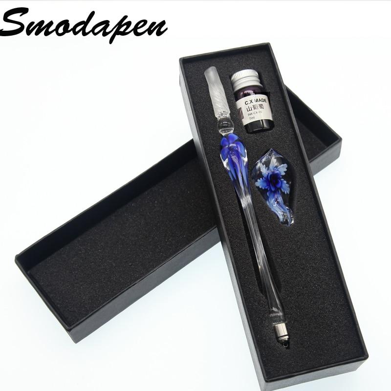 Smodapen crystal glass enamel pen set signature pen business office school stationery Christmas gifts