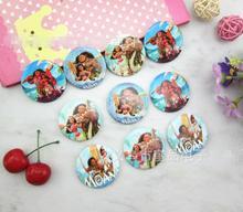 Nouveau 16 ensembles (30 pièces/ensemble) moana princesse ronde broche bouton broche badge 4.5 cm bricolage enfants cadeau X74