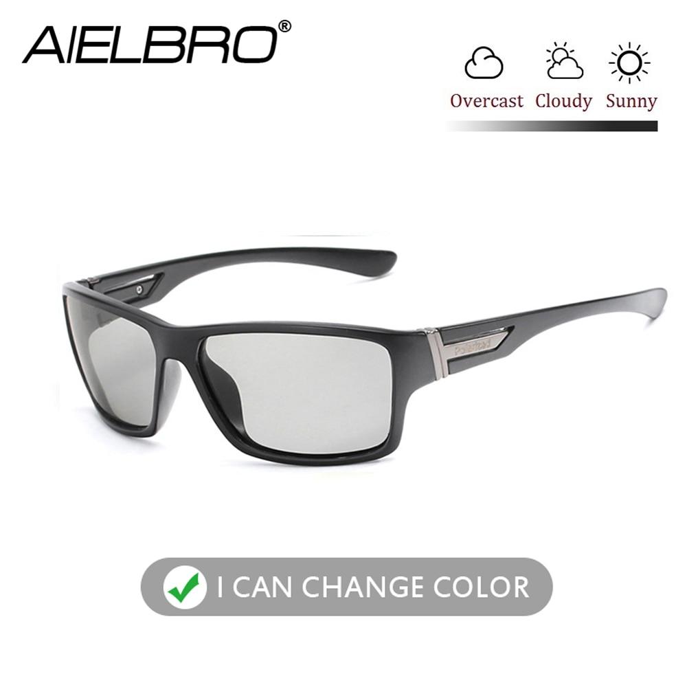 Photochromic Sunglasses Men Women Polarized Sun Glasses Outdoors Sports Square Driving gafas fotocromaticas ciclismo