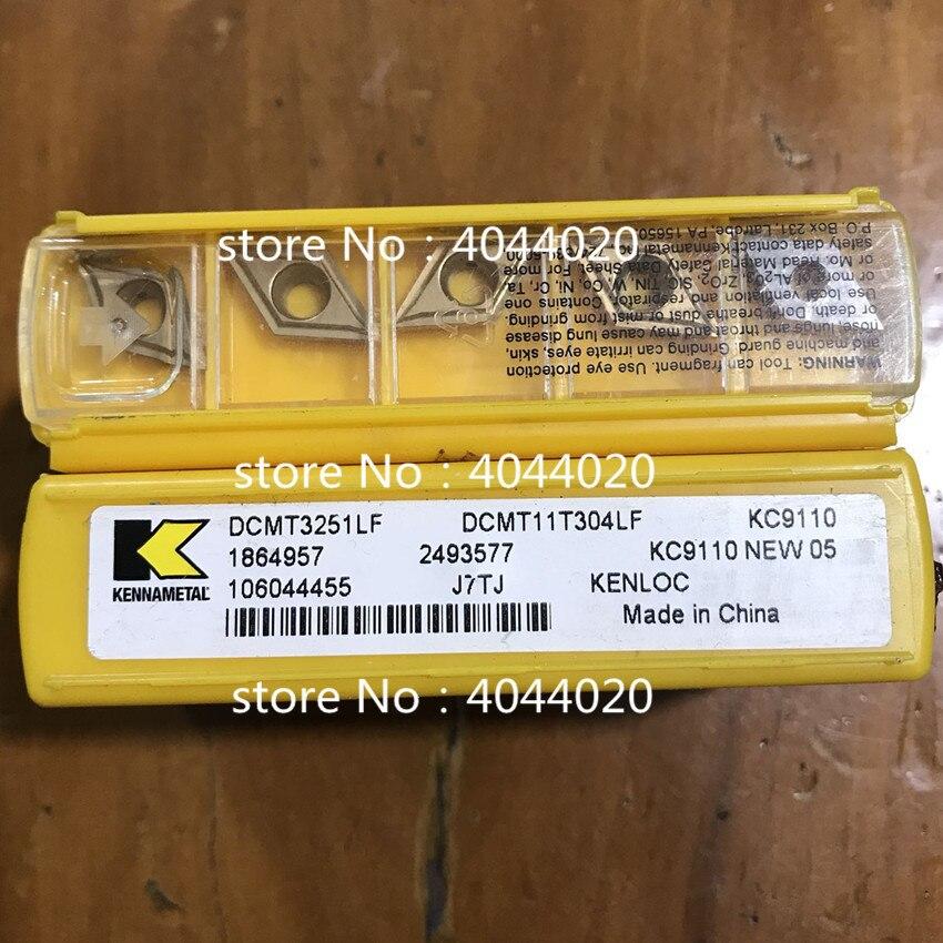 DCMT11T304LF KC9110 DCMT3251LF KC9110 5 قطعة/صندوق جديد الأصلي قطع أداة كربيد إدراج ل نك