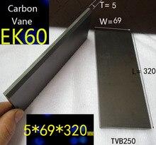 5X69X320MM VTB250 vanes à carbone   Pompe à vide, vanes à graphite, plaque en carbone, vanteau à carbone 320*69*5mm