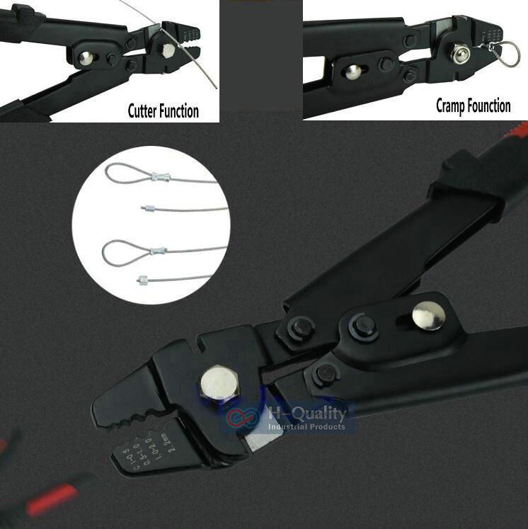 HQ CT01 الطويق الأكمام العقص أداة المشبك أداة + أسلاك الفولاذ قاطع أحبال ل 0.1-2.2 مللي متر سلك حبل و جميع أنواع الطويق