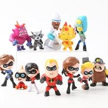 12 pcs/lot les indestructibles 2 Figurines Disney anime modèle Figurines daction Figurines Miniatures poupées de collection pour enfants 5-8CM