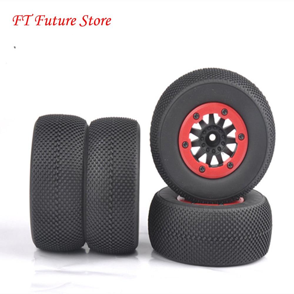 4Pcs/Set RC 1:10 12mm Hex Short Course Truck Tires&Wheel Bead-LocK Fit Car Model Toys